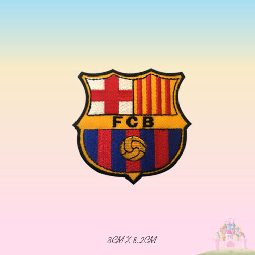 FCB Foot Ball Club Barcelona Embroidered Iron On Patch Sew On Badge