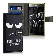 kwmobile Schutz Hülle für Sony Xperia Z5 Compact Don'T Touch My Kunstleder Case