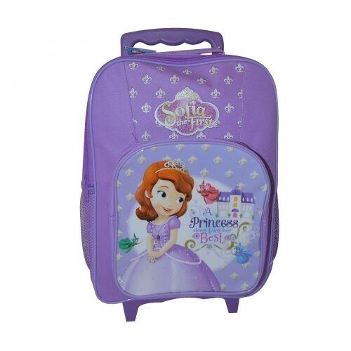 Kids & Disney Character School Travel Trolley Roller Wheeled Bag Brand New Gift