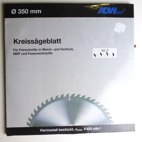 für MDF Neu 0875 ADWbest Kreissägeblätter Ø 350 mm