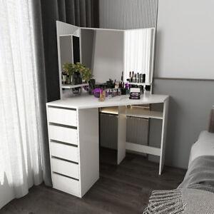 Dressing Table 5 Drawers Vanity Mirror