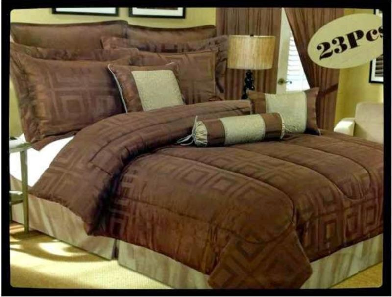 SUPER KING size Bedspread Superior Luxurious 17 piece heavy comforter set