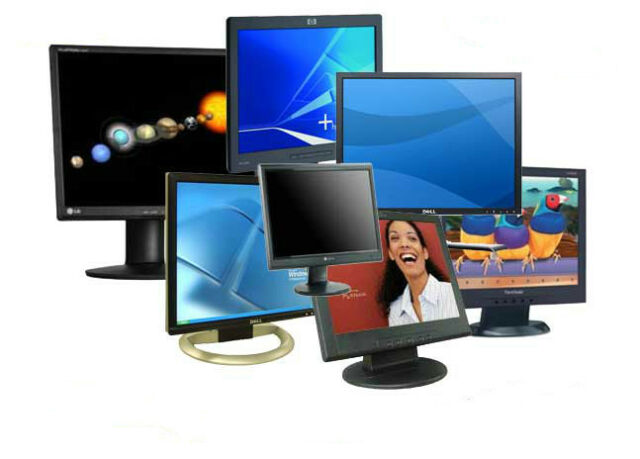 """NAME BRAND 17"""" LCD Flat Screen Monitor - Grade """"A"""" - Dell, Acer, HP, Lenovo Lot"""