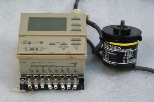 #2 ABSOLUTE OMRON H8PS-8AF CAM POSITIONER WITH OMRON E6CP-AG5C-C ROTARY ENCODER