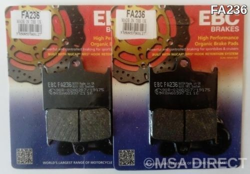 Triumph Speed Four (2002 to 2005) EBC Organic FRONT Brake Pads (FA236) (2 Sets)