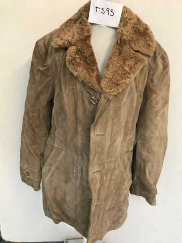 Vintage armhule rs95 Vintercoat 22 Real Sheepskin 34 Armhule Lgth Brun RfqxPR4r