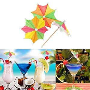 Eight-square-Mixed-Paper-Cocktail-Drink-Umbrellas-Parasols-Picks-Party-Drinks-UK