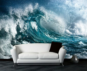 Details About Majestic Sea Waves Ocean Storm Full Wall Mural Photo Wallpaper Print Home 3d Kid