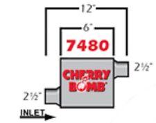 Cherry Bomb Extreme Muffler 7480cb 4 Inch X 9 34 Inch Oval Offsetoffset New