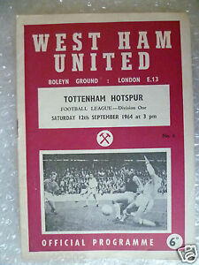 1964 WEST HAM UNITED v TOTTENHAM HOTSPUR12th Sept League Division One - <span itemprop=availableAtOrFrom>ilford, Essex, United Kingdom</span> - Returns accepted Most purchases from business sellers are protected by the Consumer Contract Regulations 2013 which give you the right to cancel the purchase within 14 days after th - ilford, Essex, United Kingdom
