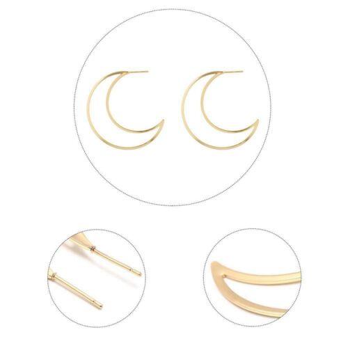 Persönlichkeit hohlen großen Mond Ohrring einfach für Frauen Ohrstecker Schmuck