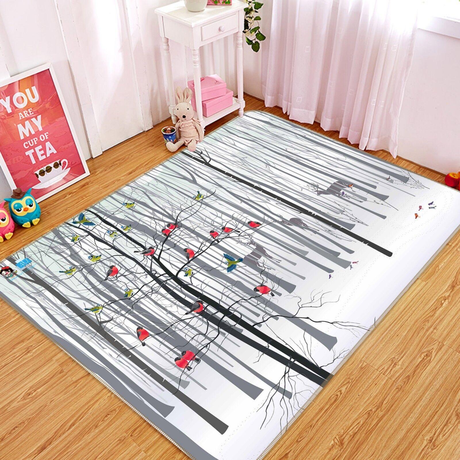 3d animales árboles 2 antideslizante alfombra de maletero calidad elegante alfombra de