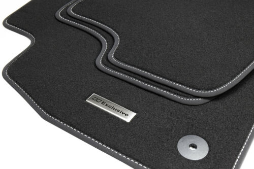 2018 Fußmatten Edelstahl Exclusive Logo für VW Touareg 3 4Motion R-Line Bj