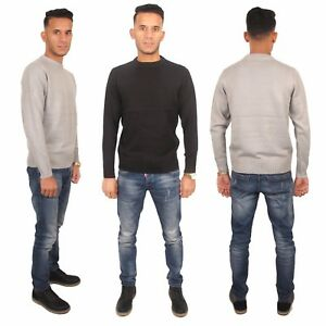 Mens-Sweatshirt-Knitwear-Sweater-Jumper-Pullover-Long-Sleeve-Size-S-M-L-XL-XXL