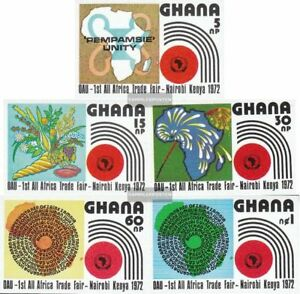 Just Ghana 453b-457b Unmounted Mint complete.issue. Never Hinged 1972 Fair Can Be Repeatedly Remolded.