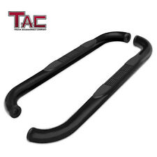 For 1995 2004 Toyota Tacoma Extended Cab 3 Black Side Step Rails Nerf Bars Fits 1996 Toyota Tacoma