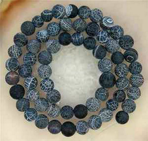 "Multicolor Frost Dream Fire Dragon Veins Agate Loose Beads Gems 14"" Wholesale"