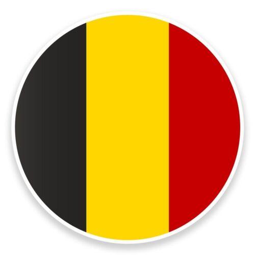 2 x Belgium Flag Map Vinyl Sticker Travel Car Luggage #9019