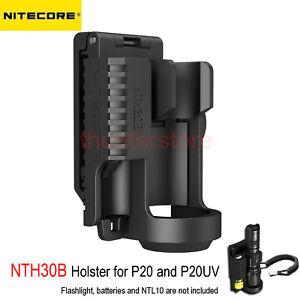 NITECORE-NTH30B-Holster-for-P20-P20UV-Flashlight-W-Battery-Bay-360-Rotatable