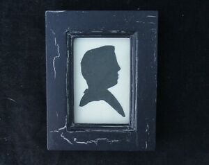 Small-Framed-Cut-Black-Paper-Silhouette-Portrait-Of-Man