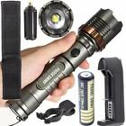 5000LM XM-L T6 LED Zoomable Tactical Flashlight Torch Lamp +Battery +Charger LOT