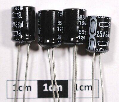 Condensador Electrolítico Nippon Chemi-con 33uF 16v 85/' 25 piezas OL0153d