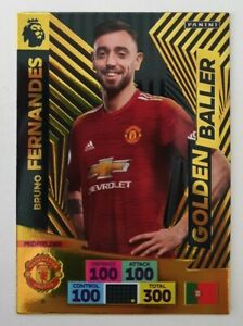 2020-21-PANINI-Adrenalyn-EPL-Soccer-Card-Bruno-Fernandes-Golden-Baller-Man-U