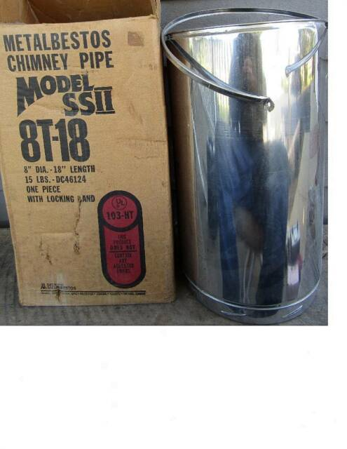 """Sure-Temp 8/""""x18/"""" 8T-18 Stainless All Fuel Double Wall Insulated Chimney Pipe"""