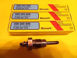 4 x MONARK Bougie de préchauffage Glühstift pour Mercedes mb100 w123 w124 s123 s124 glow plug