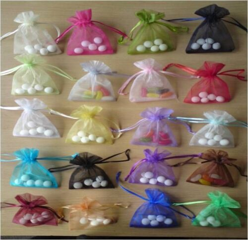 500 assorted organza bags 3.2x4.5 inch SINGLE//MIXED