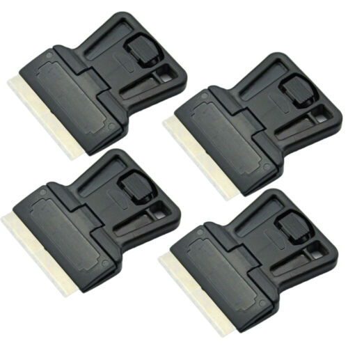 "Scraper Cleaning Tool 4pcs 1.5/"" razor blade Single Edged Painting Handle Black"