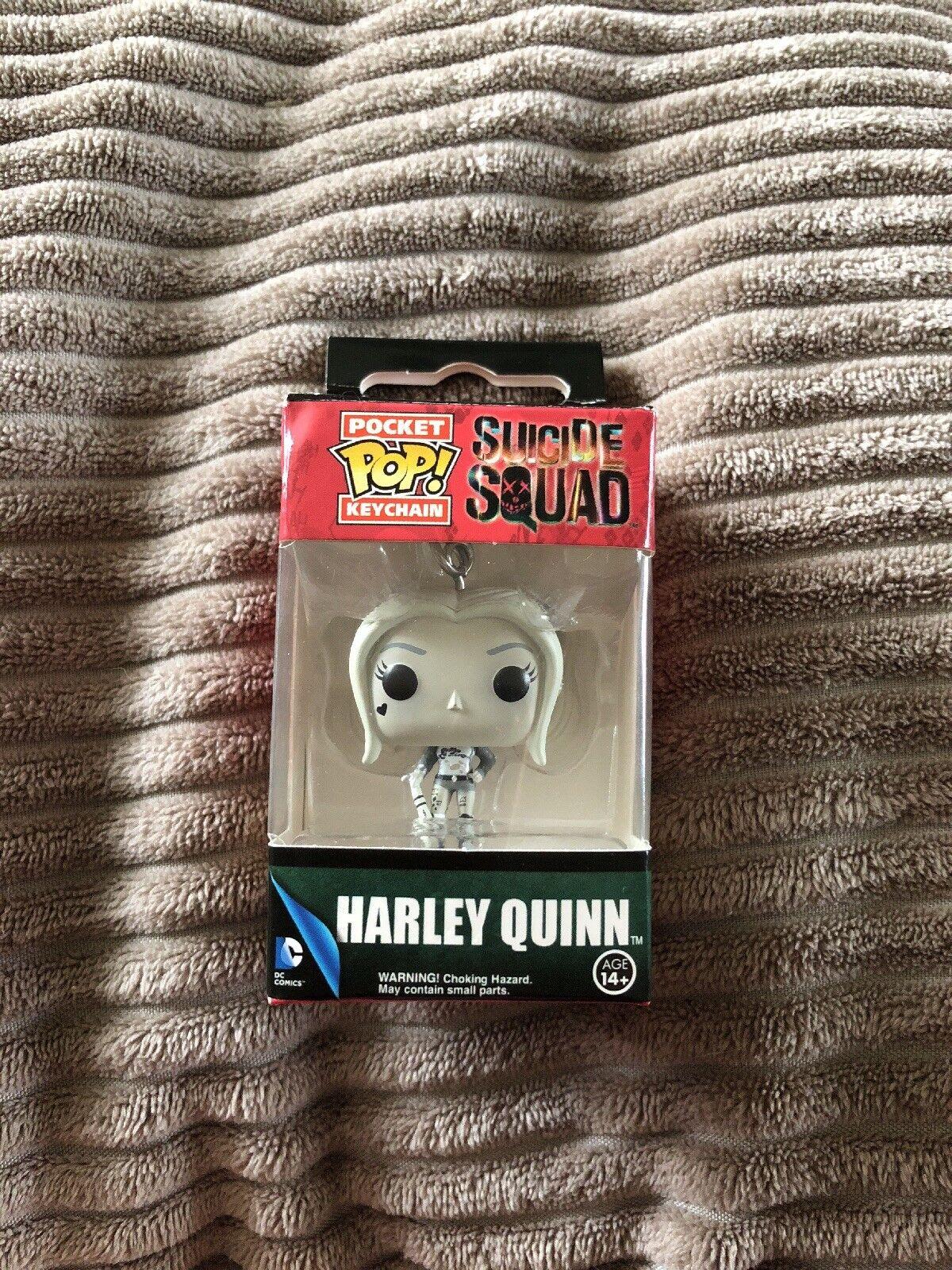 Funko Pop Vinyl Harley Quinn Suicide Squad  Very Rare Keychain Nerd Block.