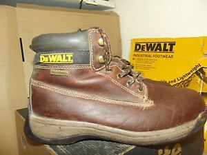 de5c3031086 Details about Dewalt Apprentice Galactic Tan Brown Leather steel toe safety  boots UK 8 - AA176
