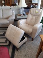 Leather Chair + Ottoman Winnipeg Manitoba Preview