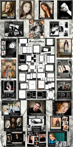Digital Sandwich Layered Model Senior Composites Post Cards Photo Backgrounds 1M