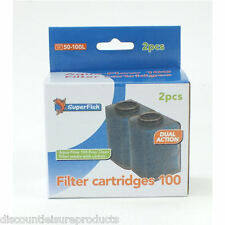Super Fish Aqua Flow 100 Aquarium Filter Cartridges