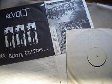 SWEDEN-HC-PUNK 1982 ##REVOLT Vår Blotta Existens DIY-mLP 'only 500 made' CRASS