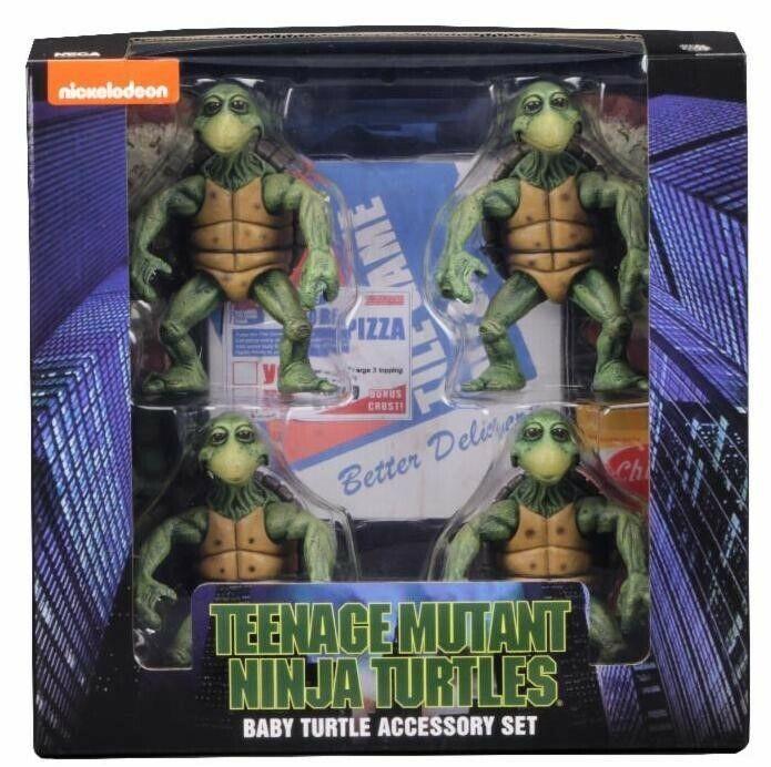 BABY Teenage Mutant Ninja Turtles 1 4 Accessory Set TMNT Action Personaggio NECA