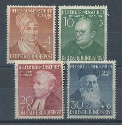 Bund Nr.156-159** Wohlfahrt Helfer Der Menschh. Warnen 586073 Brd 1948-1954