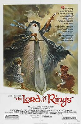 Lord of the Rings Animated Film Poster Ralph Bakshi A3 Home Cinema Wall Decor
