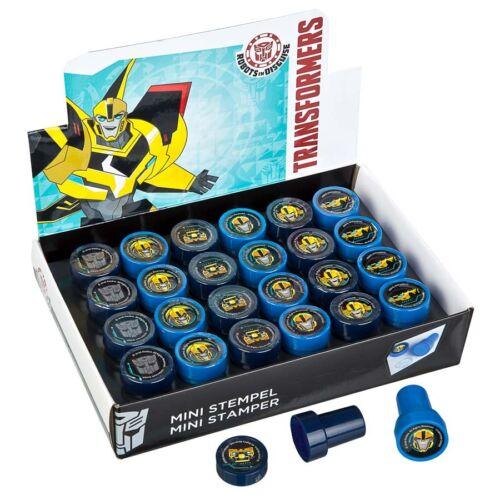 6x Undercover Mini Stempel Transformers für Kinder verschiedene Stempelmotive
