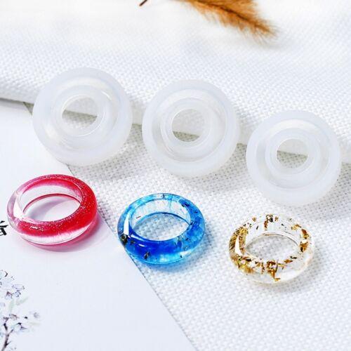 3Pcs Anillo de Silicona Molde hacer anillos de joyería de colada de resina mano Hazlo tú mismo molde Craft