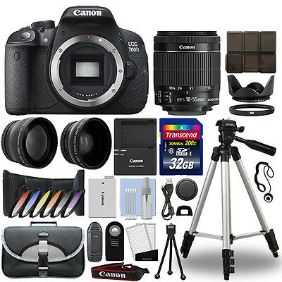 Canon EOS 700D DSLR Camera + 18-55mm 3 Lens Kit + 32GB Best Value Kit