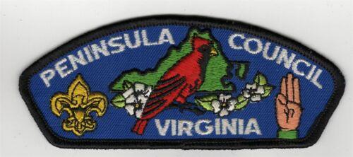 wht ltrs 400608 yel SE CSP Peninsula Council Virginia T-1 blk bdr dk blue bkg