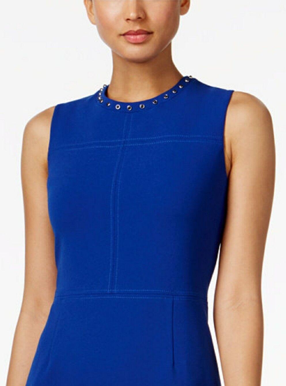 NWT Ivanka Trump Studded Sheath Blau Dress Größe 12  ID7N1ERF
