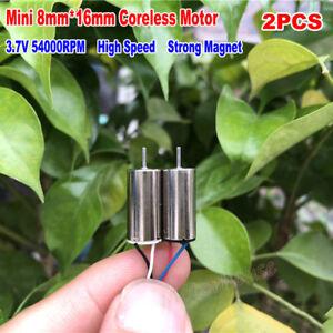 2PCS 6mm*15mm DC 3.7V 43000RPM High Speed Strong Magnetic Mini Coreless Motor