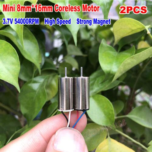 2PCS 8mm*16mm DC 3.7V 54000RPM High Speed Micro Mini Coreless Motor DIY RC Drone