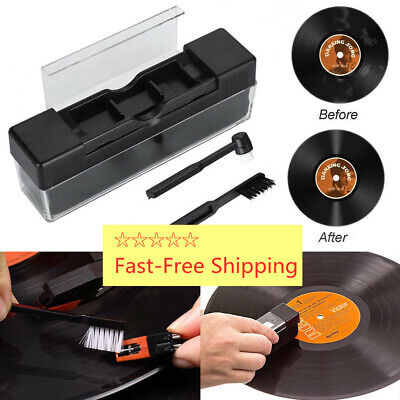Professional Anti-Static Vinyl Record Velvet Cleaning Cleaner Pad Brush Great