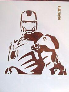 Iron Man Stenciltemplate Reusable 10 Mil Mylar Ebay