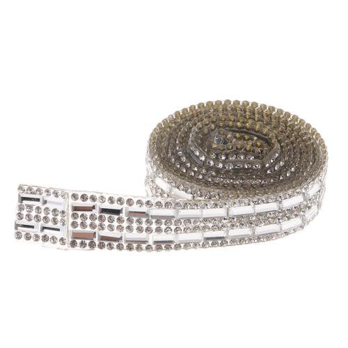 1 yardas pedrería banda autoadhesivas strassborte banda para joyas coser